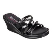 Women's Skechers Rumblers Wild Child Wedge Slide Black