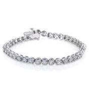 1/2ct (ct.tw) Diamond Sterling Silver Bracelet
