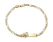 Gold Plated Sterling Silver Dora ID Bracelet