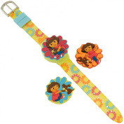 Girls Dora and Puppy Covered Dial LCD Watch