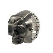 Elastic Band Skull Design Finger Ring Watch US 6 1/2