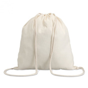 Cotton 100 gsm drawstring bag - beige