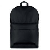 600D polyester large backpack - black