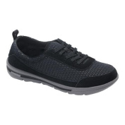 Women's Rockport XCS Rock On Air Comfort Sneaker Black Suede/Mesh Washable
