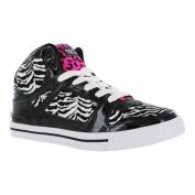 Women's Gotta Flurt Hip Hop VI Sneaker Black/White/Hot Pink