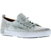 Women's Blackstone JL20 Leather Sneaker White Metallic Full Grain Leather
