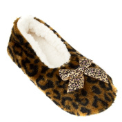 Leisureland Women's Fleece Lined Animal Cosy Slippers
