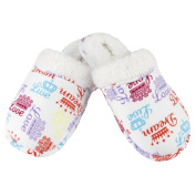 Leisureland Women's Crown of Love Cotton Flannel Slippers