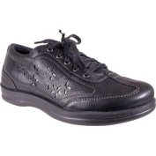 Women's Apex Robyn Chop Out Lace-Up Oxford Black Full Grain Leather
