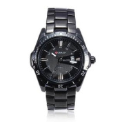 Fashion CURREN 8110 Black Stainless Steel Date Men Quartz Wrist Watch