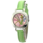 Disney Tinker Bell Flirt #MU2584-AV Ladies Watch 30MM Apple Green Colour Leather Strap