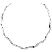 Sterling Silver Collar Necklace Choker Twisted Wire Handmade 0.6cm wide