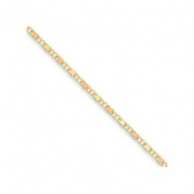 23cm 14k Polished and bright-cut Anklet in 14 kt Yellow Gold