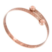 Wesley Wrap Bangle Bracelet Antiqued Rose Gold Tone Made USA One Size Fits All
