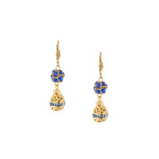 Alzerina Handmade 24K Gold Plated. Elements Crystal Drop Leverback Dangle Earrings