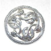 Sterling Silver Three Serpent Brooch