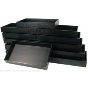 12 Jewellery Display Travel Tray Black Faux Leather