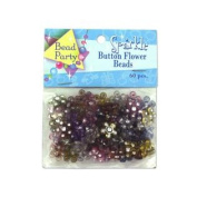 Sparkle Button Flower Beads, Pack Of 60 Set of 96