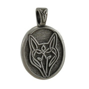 Pewter Celtic Wolf Live Bold Trust Your Instincts Pendant