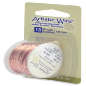Artistic Wire 18-Gauge Bare Copper Wire, 4-Yards