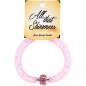 All That Shimmers Readymade Bracelets-Dark Pink