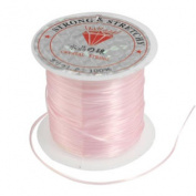 Jewellery Pendant Beading Thread Elastic Crystal String Cord Spool Pink 9M