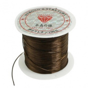 9M 29.5 Ft Coffee Colour Stretchy Crystal Jewellery Beading Thread String Spool