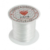 Pendant Jewellery Beading Thread Stretchy Crystal String Cord Spool White 9M
