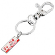 Swivel Trigger Clip Silver Tone Keyring Key Holder Chain