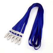 Cellphone ID Work Cards USB Holder Lanyard Neck Strap Royal Blue 45cm Long 5pcs