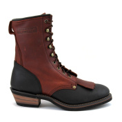 AdTec Men's Two-tone Leather Packer Boots
