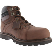 Men's Roadmate Boot Co. Gravel 15cm WP Steel Toe Shock Absorbing Work Boot Chocolate Brown Crazy Horse Leather