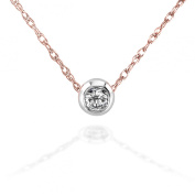 1/10ct TDW Diamond Solitaire Necklace in 14K Gold