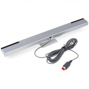 Accessotech Wired Infrared Ray Sensor Bar for Nintendo Wii Console + Stand 3M Cable Infared