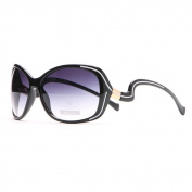 DASEIN by Anais Gvani Outlined Fashion Sunglasses with Curvy Details