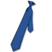 Boy's CLIP-ON NeckTie Solid ROYAL BLUE Colour Youth Neck Tie