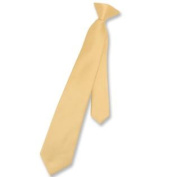 Boy's CLIP-ON NeckTie Solid GOLD Colour Youth Neck Tie