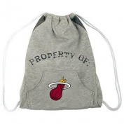 NBA Miami Heat Hoodie Cinch Backpack, 36cm x 43cm , Grey