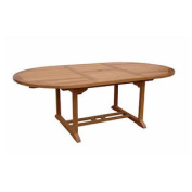 Bahama 220cm Oval Extension Table Extra Thick Wood