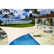 Shade Sail Canopy 4.9m Tan Oversize Sun Shade Patio Yard Cover UV Protected New