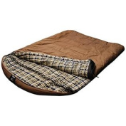 Grizzly by Black Pine 2 Person +25 Degree Canvas Sleeping Bag, Tan