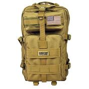 Seibertron Falcon Tactical Backpack Compact Assault Pack Summit Bag Khaki 37L