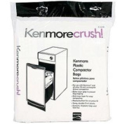 60ct Plastic Trash Compactor Bags for KENMORE, GE, FRIGIDAIRE, WHIRLPOOL, MAYTAG, and All Other 38cm Rectangular Draw
