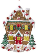 BUCILLA 86585 Nordic Gingerbread House Advent Calendar Felt Applique Kit, 46cm by 60cm