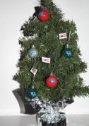 Kentucky Wildcats Table Top Christmas Tree w/ 16 Logo Ornaments