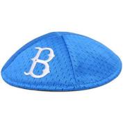 Brooklyn Dodgers Emblem Source Blue Pro-Kippah Yarmulke with Hair Clips