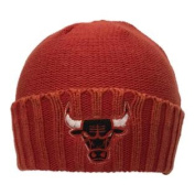 Chicago Bulls UNISEX Faded Red Cuffed Knit Beanie Hat Cap