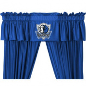 NBA Dallas Mavericks 5pc Long Curtain-Drapes Valance Set