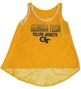 Georgia Tech Yellow Jackets Blue 84 Gold Womens See-through back Tank Top