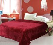 500 High Quality Burgundy KIng Microfiber Blanket